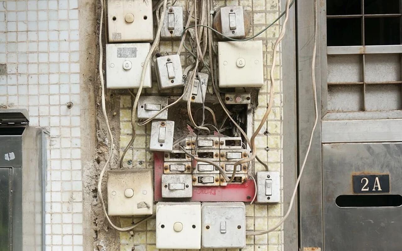 고장난 전기배선
